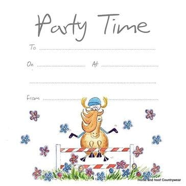 Party Invitations - Jumping Horse (x10)