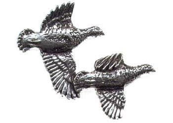 Pewter Flying Partridges Badge