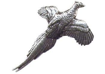 Pewter flying Pheasant Badge
