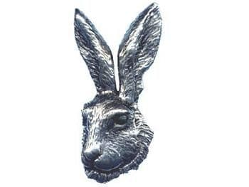 Pewter Hare Badge