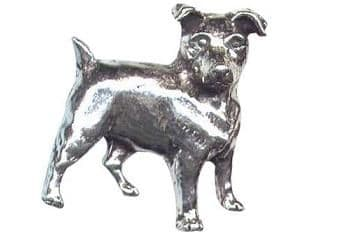 Pewter Jack Russel Badge