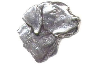 Pewter Labrador Head Badge