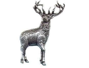 Pewter Stag Badge