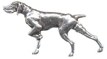 Pewter Walking Pointer Badge