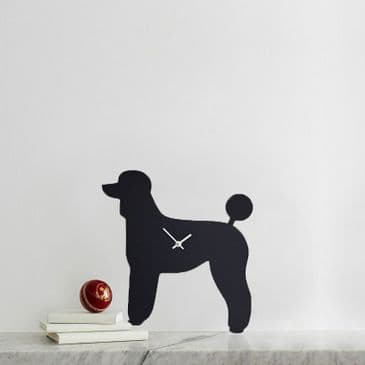 POODLE CLOCK WITH WAGGING TAIL