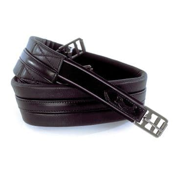 Rhinegold German Leather Padded Shaped Leather Girth