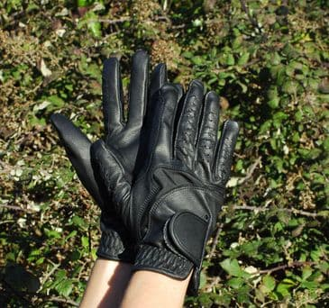 Rhinegold Luxe Leather Riding Gloves
