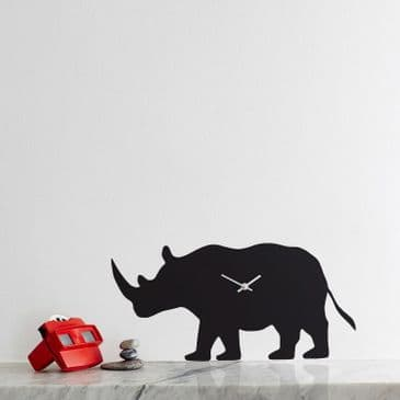 RHINO CLOCK WITH WAGGING TAIL