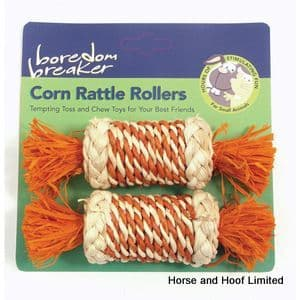 Rosewood Boredom Breaker Corn Rattle Rollers Toy For Small Animals