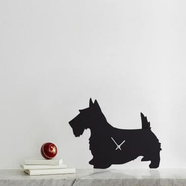 SCOTTIE CLOCK WITH WAGGING TAIL