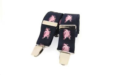 Soprano Pig's Country Braces - Navy