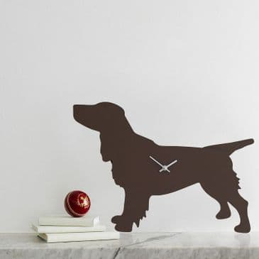 SPRINGER SPANIEL CLOCK WITH WAGGING TAIL - BROWN