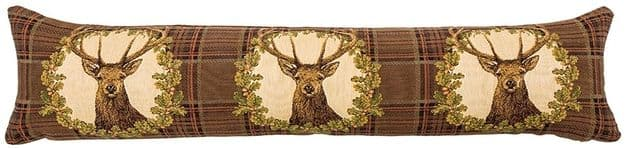 Stag Brown Tartan - Fine Tapestry Draught Excluder
