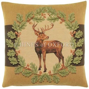 Stag & Oakleaves I - Fine Tapestry Cushion