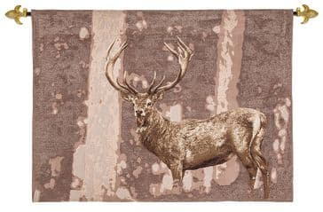 Stately Stag - Fine Woven Tapestry Wallhanging