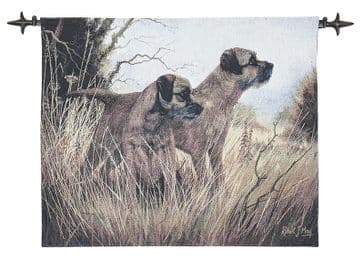 Terriers - Fine Woven Tapestry Wallhanging