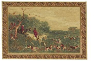 The English Hunt - Fine Woven Tapestry Wallhanging