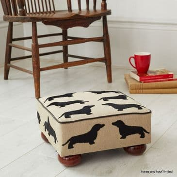 The Labrador Company Eaton Small Footstool - Dachshund