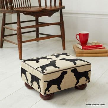 The Labrador Company Eaton Small Footstool - Spaniel