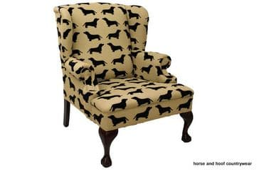 The Labrador Company Eaton Wing Chair - Dachshund