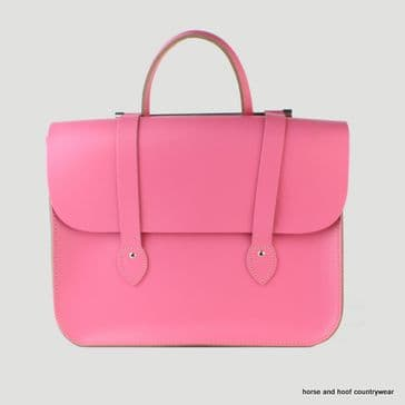 Traditional Hand Crafted British Vintage Leather Music Case - Baby Pink