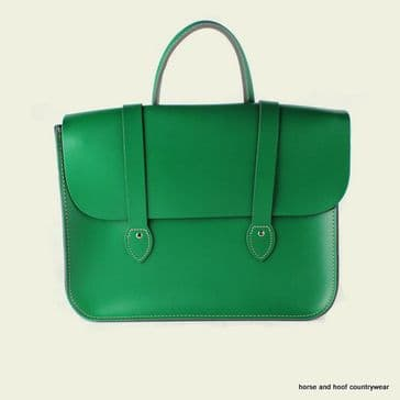 Traditional Hand Crafted British Vintage Leather Music Case - Sherwood Green