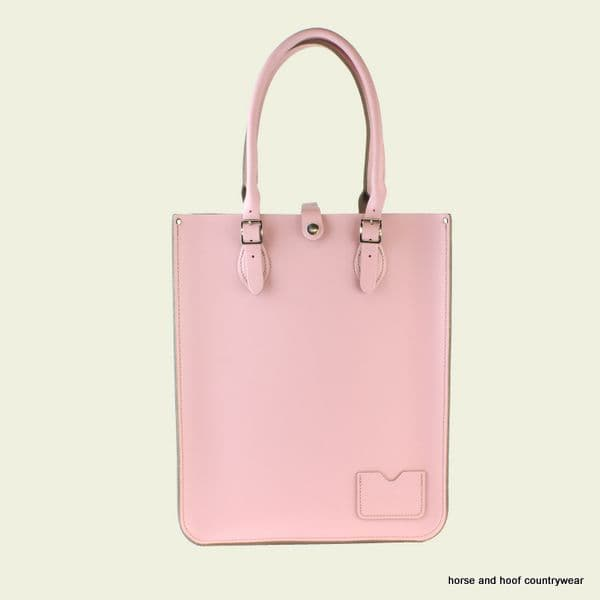 Traditional Hand Crafted British Vintage Leather Tote Bag - Candy Floss