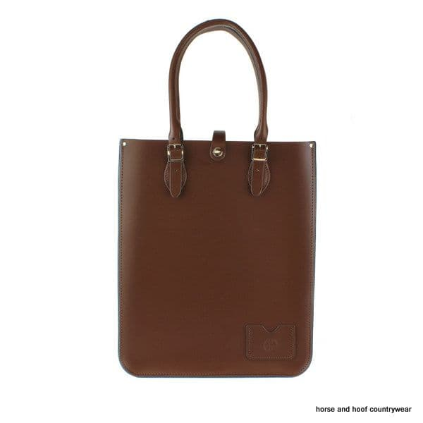 Traditional Hand Crafted British Vintage Leather Tote Bag - Chestnut Brown