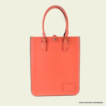 Traditional Hand Crafted British Vintage Leather Tote Bag - Coral Reef