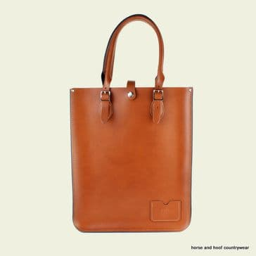 Traditional Hand Crafted British Vintage Leather Tote Bag - London Tan