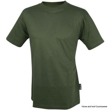 Web-tex Plain T-Shirt - Olive Green