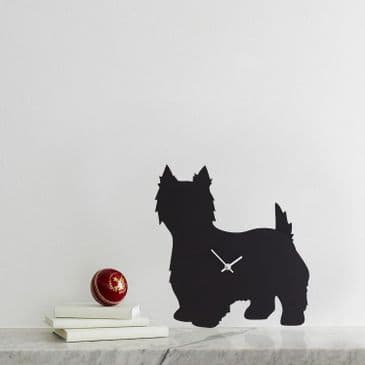 WEST HIGHLAND TERRIER CLOCK WITH WAGGING TAIL