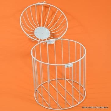White Coated Metal Bird Cage