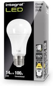 Dimmable 100W Equivalent LED Bulb | 14W Screw E27 | INTEGRAL