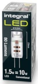 G4 LED Bulb | 12V LED Capsle  | Warm White | 10-15W Halogen Equivalent