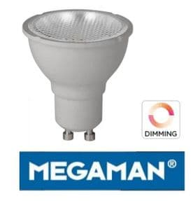 GU10 LED Dimmable Bulb | Warm White | Halogen 50W Equivalent | MEGAMAN