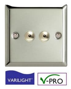 LED Dimmer Switch | 2 Gang | Intelligent Trailing-Edge | Touch & Remote Control | VARILIGHT