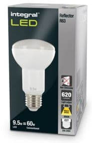 R63 Reflector LED Bulb | 60W Equivalent | Warm White | E27 Non-Dimmable Lamp