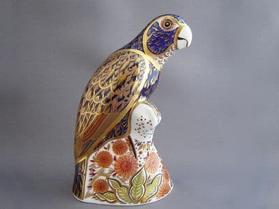 Crown Derby Bronze Winged Parrot