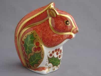 Crown Derby Christmas Squirrel