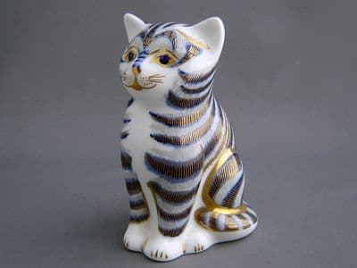 Crown Derby Grey Kitten