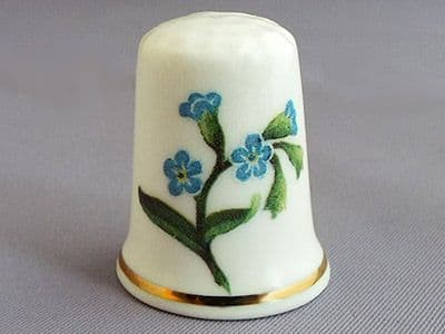 Regal Etruria Thimble - Forget-me-not