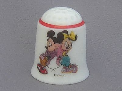 Reutter Thimble - Mickey and Minnie Mouse