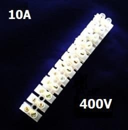 10 AMP TERMINAL BLOCKS 10mm² 12WAY BLOCK CLEAR POLYETHYLENE PE