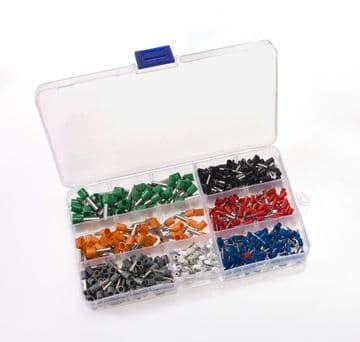 600pc Bootlace Ferrules Cord End Terminal Kit, 0.5 - 6mm² French Colour Code