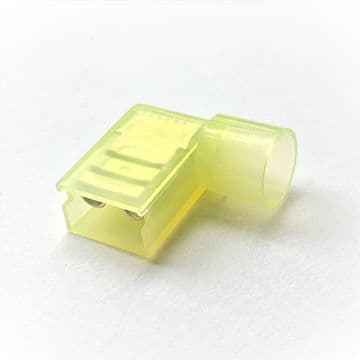 FLDNY5-250 6.35 x 0.8mm Flag Terminals,  Yellow Nylon Insulated (Pack of 100)