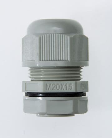 NCG-M20-13.5 GREY - M20 x 1.5 Cable Gland, IP68, 8.5-14mm, UL Nylon 66