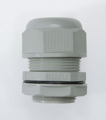 NCG-M32-22 GREY - M32 x 1.5 Cable Gland, IP68, 15-22mm, UL Nylon 66