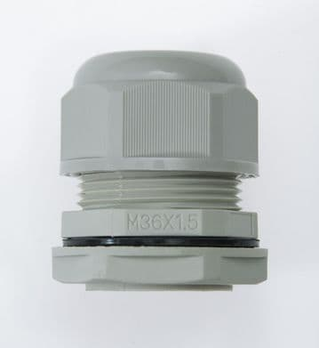 NCG-M36-25 GREY - M36 x 1.5 Cable Gland, IP68, 17-25mm, UL Nylon 66