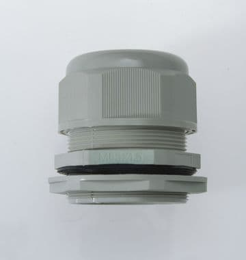 NCG-M63-45 GREY -M63 x 1.5  Cable Gland, IP68, 35-45mm, UL Nylon 66